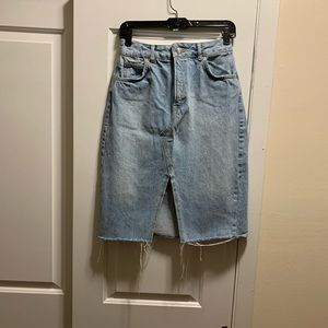 Knee Length TopShop Denim Skirt